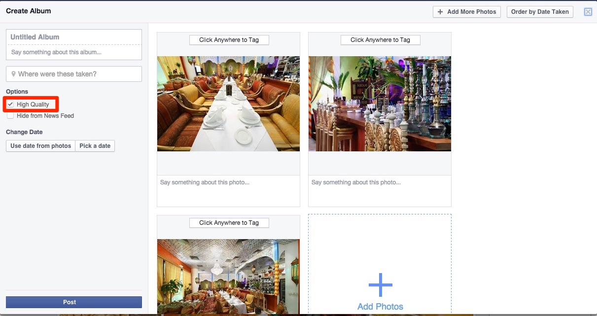 how to add more photos to a post on facebook