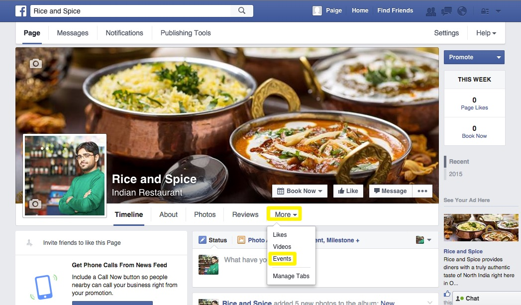 Adding Events to Your Website (through Facebook) – Support