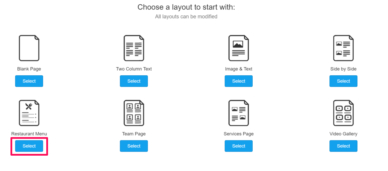 Custom Page Layout Templates – Support