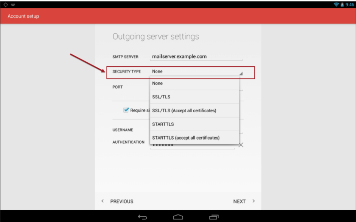 Configuring Email On Android Support