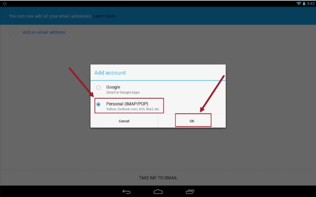 Configuring Email on Android – Support